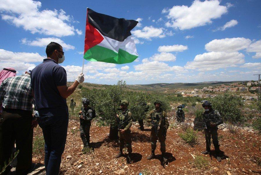 """الجالية الفلسطينية في أميركا تنظم مسيرة ضد """"الضم"""""""